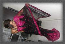 Priyanka Saree Black and Pink 2