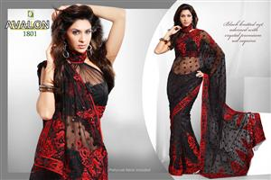 Priyanka Striking RED Black