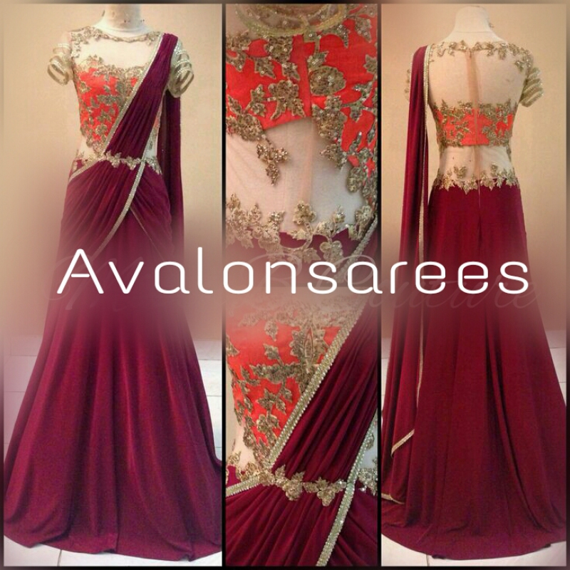 Meera dazz saree gown - Avalon BRIDAL GHAGRACHOLI - LEHENGHA / Lengha\'s