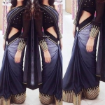 Greyisha Black Saree