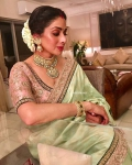 Sri devi mint green saree