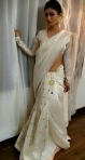 Moni Roy White Saree