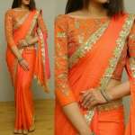 Orange meltz saree