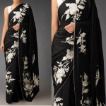 Black Rosario saree