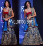 Katrina Grand blue ghagra