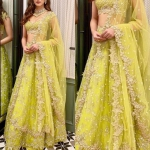 Lime green lengha