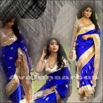 shreya blue saree