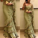 Green espranza saree