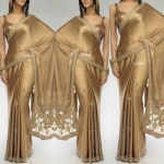 Gold shine saree