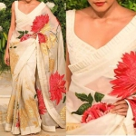 Flower shine saree