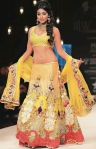 Shriya yellow diva lengha