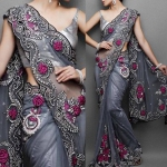 Grey Floral Saree