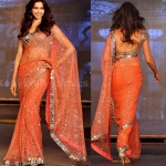 Deepika Orange Saree