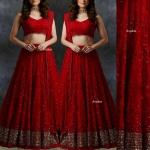 Red Shanara Lengha