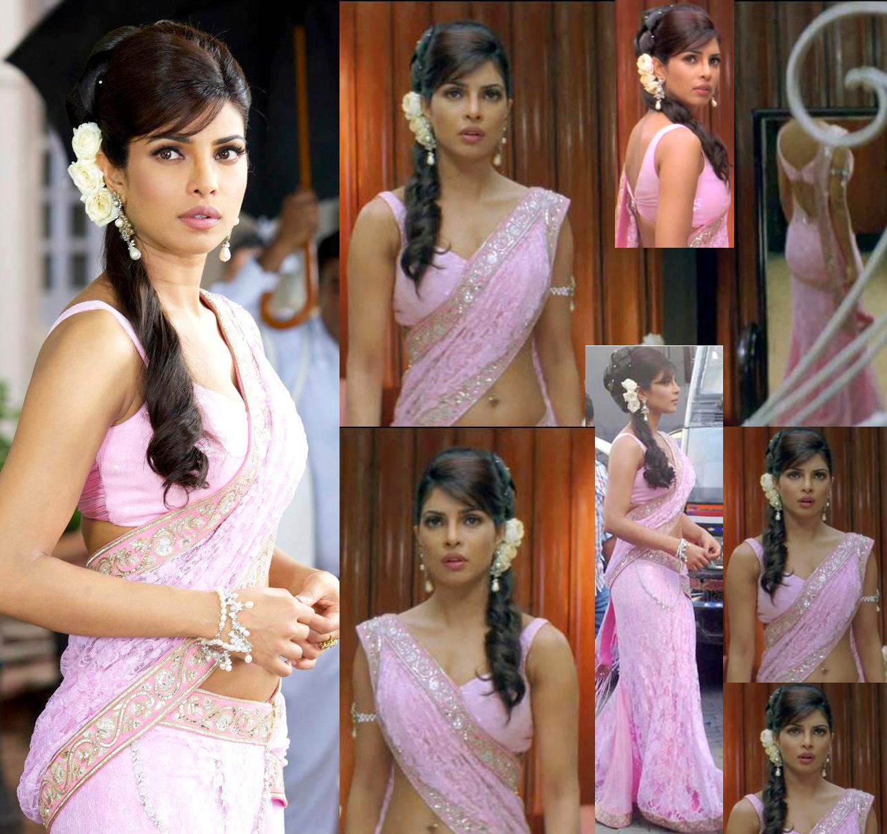Priyanka Sweet Pink Celebrity Sarees